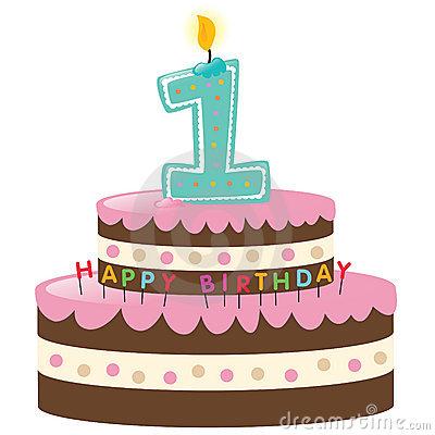 1st birthday cake cartoon